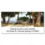 Beach Hammock Deluxe Address Labels