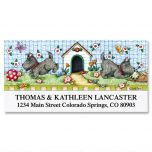 Scotties at Play  Deluxe Address Labels