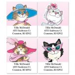 Whiskers™ Fashion Kitties Select Address Labels  (4 Designs)