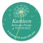 Dandelion  Round Bookplates