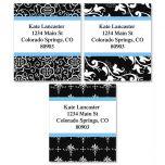 Black Elegance Select Address Labels   (3 Designs)