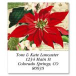Winter Joy Poinsettia Select Address Labels