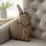 Hare-Raising Bunny Shaped Pillow