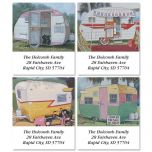Travel Trailer Select Address Labels  (4 Designs)