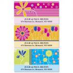 Color Floral Deluxe Address Labels