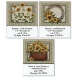 Angela's Flowers Select Address Labels  (3 Designs)