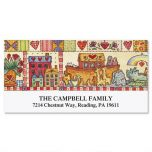 Homespun  Year-Round Deluxe Address Labels  (12 Designs)