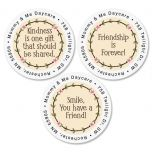 Smile Round Address Labels   (3 Designs)