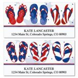 Americana Flip-Flops Deluxe Address Labels  (2 Designs)