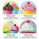 Cupcakes Diecut Address Labels  (4 Designs)