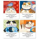 Fat Cats Select Address Labels  (4 Designs)