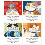Fat Cats Select Address Labels  (4 Designs)
