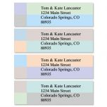 Color Block Classic Address Labels  (4 Designs)