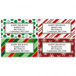 Giftwrap Greetings Border Address Labels   (4 Designs)