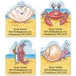 Seaside Friends Diecut Address Labels  (4 Designs)