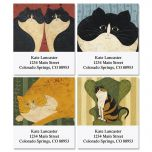 Warren Kimble's Cozy Cats Select Address Labels   (4 Designs)