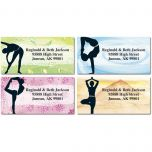 Yoga Spirit Border Address Labels  (4 Designs)