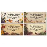 Natural Seasons Border Address Labels   (4 Designs)