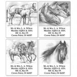 She Runs - Horse Select Address Labels   (4 Designs)