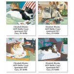 Afternoon Cats  Select Address Labels  (4 Designs)