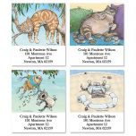 Cat Fun Select Address Labels  (4 Designs)