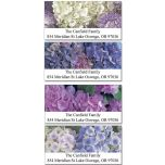 Hydrangea Deluxe Address Labels  (4 Designs)