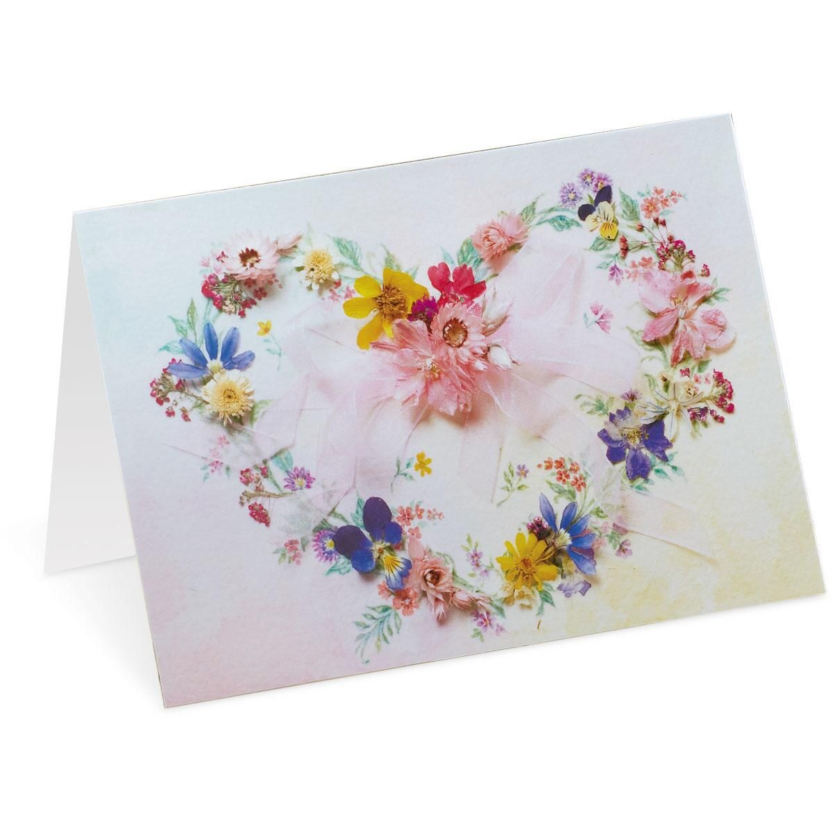 Heart Wreath Custom Note Cards