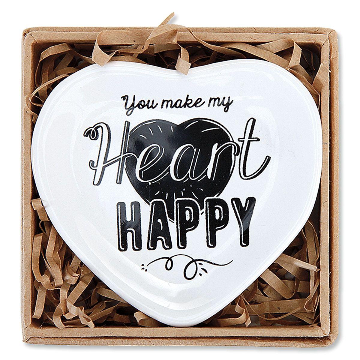 Ceramic Catch All Heart Dish