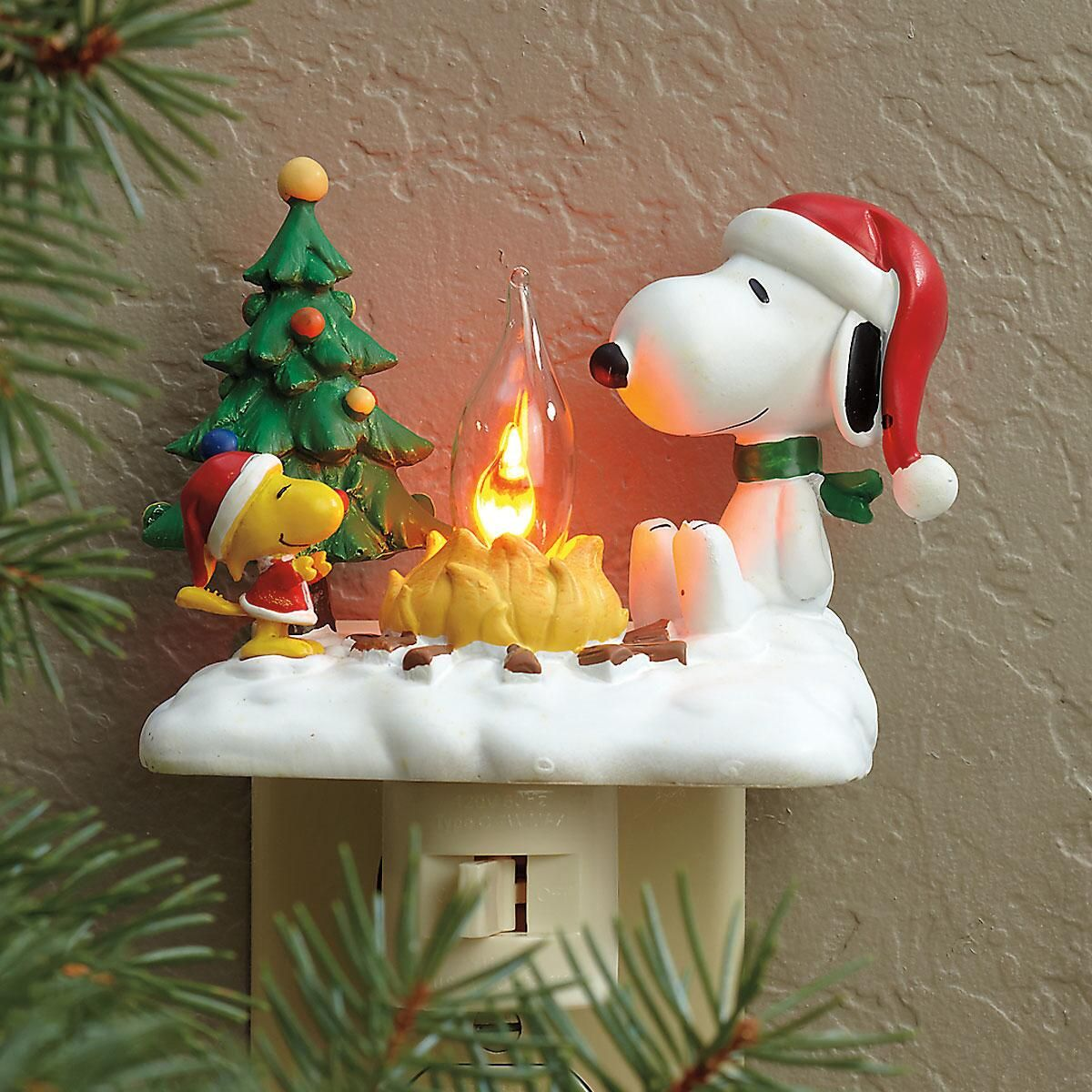 PEANUTS® Snoopy and Woodstock by Campfire Night Light