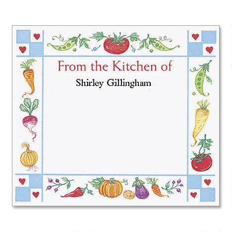 Gingham Hearts Canning Labels