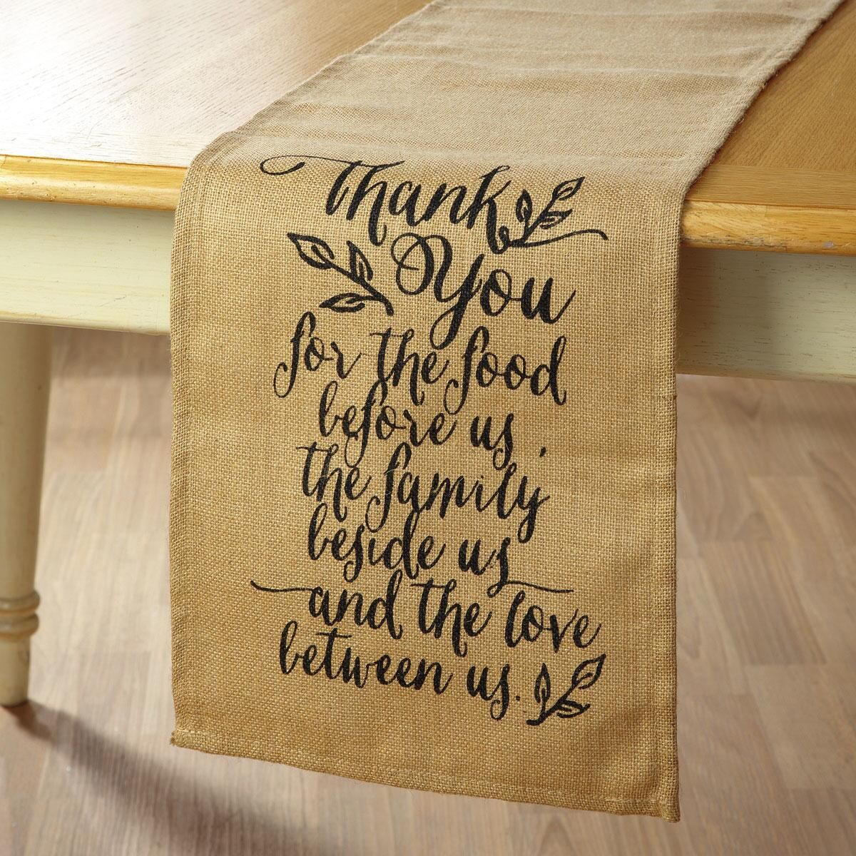 Thank You Table Runner