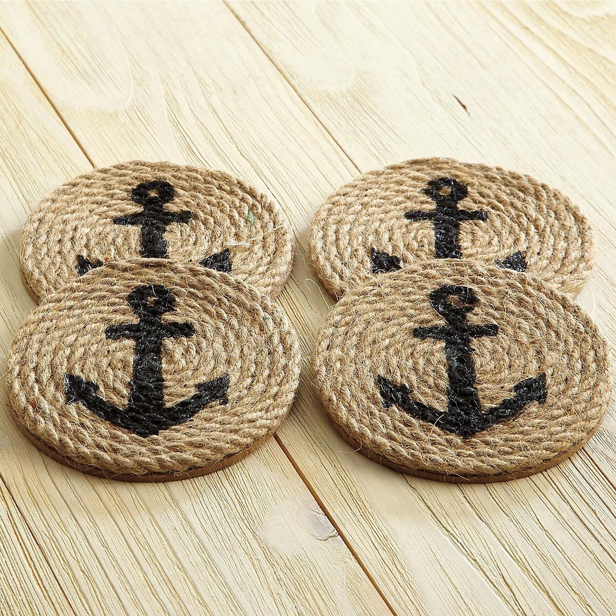 Hemp Rope and Anchor Coasters