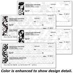 Elegant In Black Personal Checks