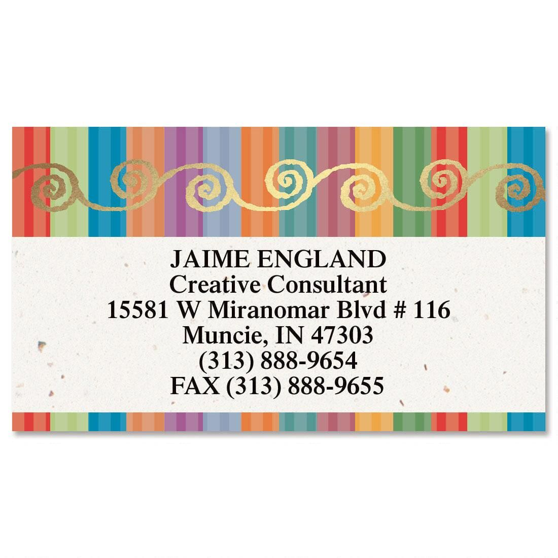 Color Caravan  Foil Business Cards