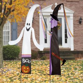 Ghost & Witch Fairy Tale Halloween Flags