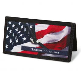 Freedom  Checkbook Cover - Personalized