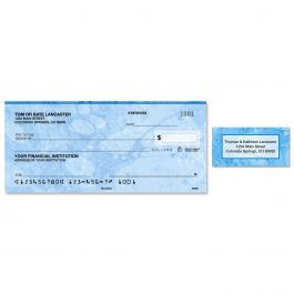 Blue Marble Single Checks with Matching Address Labels