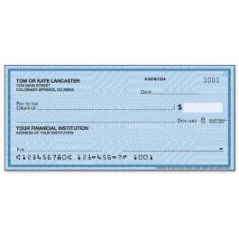 Security Blue Single Checks