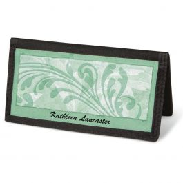Scroll  Checkbook Cover - Personalized