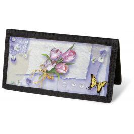 Floral Collage  Checkbook Cover - Non-Personalized