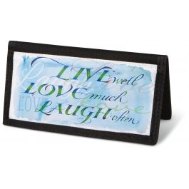 Live, Love, Laugh Checkbook Cover - Non-Personalized