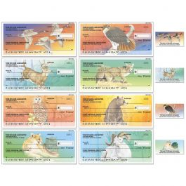 Wildlife Single Checks with Matching Address Labels