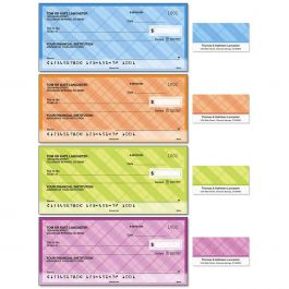 Perfectly Plaid Duplicate Checks with Matching Address Labels