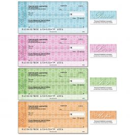 Peace, Love, Joy, Hope Single Checks with Matching Address Labels