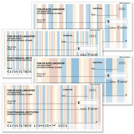 Coastal Stripes Personal Duplicate Checks