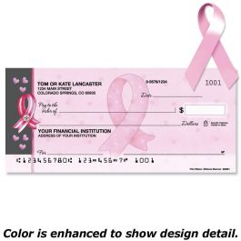 Pink Ribbon Duplicate Checks