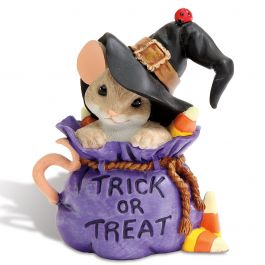 Mouse in Treat Bag by Charming Tails®