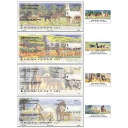 Beauty in the Wild Single Checks With Matching Address Labels