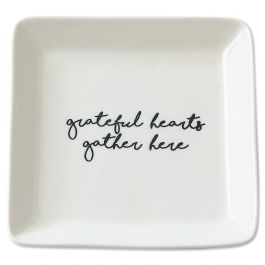 Grateful Porcelain Trinket Dish