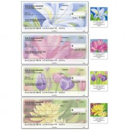 Floral Whispers Duplicate Checks with Matching Address Labels